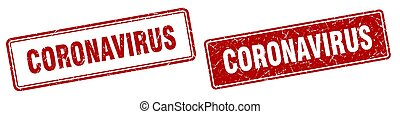 coronavirus stamp set. coronavirus square grunge sign