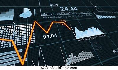 Coronavirus stock market crisis concept motion background animation. Financial Stock market crisis because of Wuhan Covid-19. Coronavirus financial outbreak losses