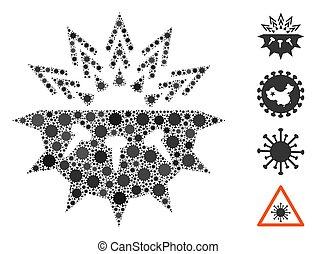 Coronavirus Structure Mosaic of Corona Virus Items
