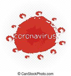 coronavirus symbol white background