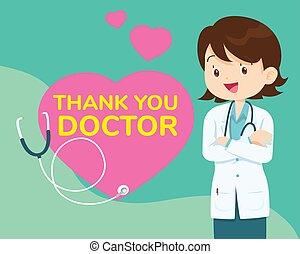 coronavirus, tacka, sjukhus, stridande, sköterskan, dig, arbete, doktorn