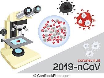 coronavirus under microscope