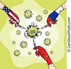 Coronavirus vaccine in the United States, Russia and China