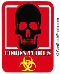 coronavirus, varsel underskriv