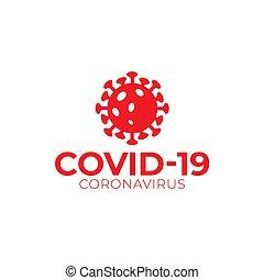 coronavirus, vector, logotipo, gráfico, covid-19