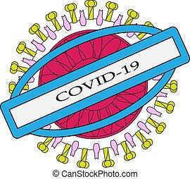Coronavirus virus infection vector illustration isolated on white background