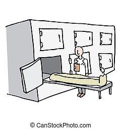 Coroner, salle,  morgue