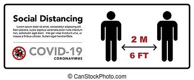 coronovirus, distancing, メートル, protective., たくわえ, 伝染病, 距離。, ...