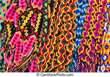 corored Braids - a display of colorful braids