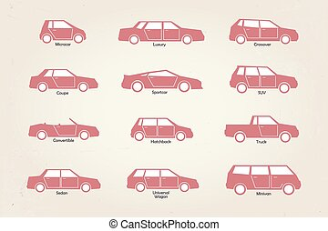 corpo, automobile, tipi