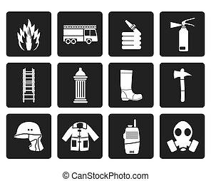 corpo bombeiros, ícones
