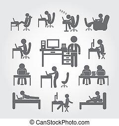 corpo, computer usa, umano