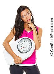 corpo, donna, insoddisfatto, peso