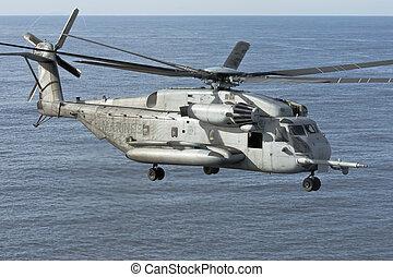 corpo, marinho, helicóptero, ch-53e