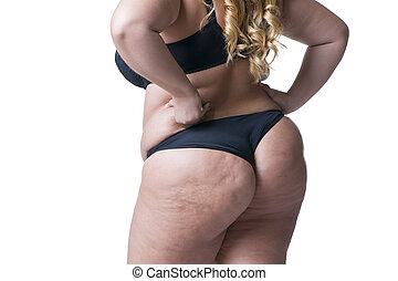 corpo mulher, femininas, excesso de peso, isolado, gorda,...