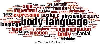 corpo, nuvola, lingua, parola