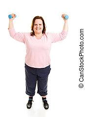 corpo, pieno, allenamento