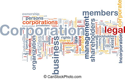 corporação, conceito, fundo