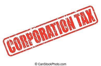 corporação, imposto, vermelho, selo, texto