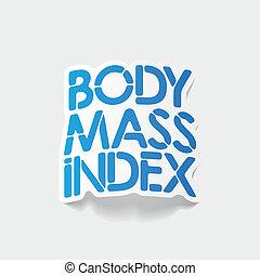 corporal, índice, element:, realístico, desenho, massa