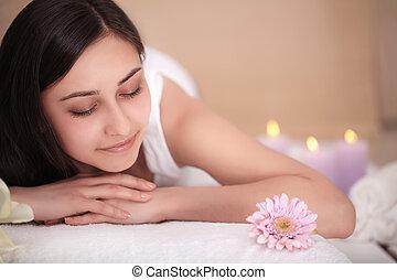 corporal, beleza, procedimento, spa, woman., salon., massagem, cuidado