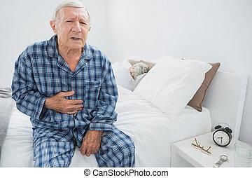 corporal, dor, sofrimento, homem velho