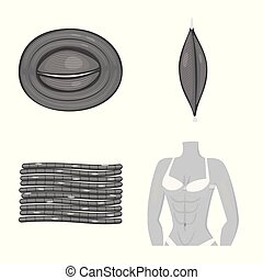 corporal, illustration., celas, objeto, isolado, cobrança, símbolo., vetorial, human, estoque