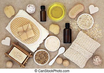 corporal, pele, produtos, cuidado