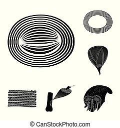 corporal, stock., celas, objeto, isolado, cobrança, símbolo., vetorial, human, ícone