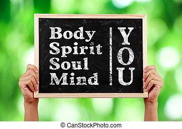 corporal, tu, mente, espírito, alma