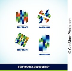 Corporate 3d logo set
