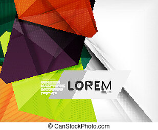 Corporate abstract business template