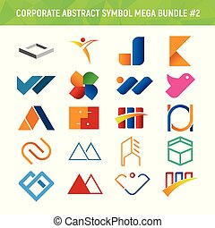 Corporate Abstract Symbol Mega Bundle Pack Design 2