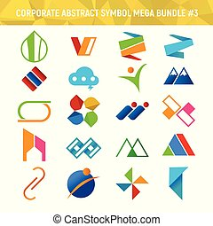 Corporate Abstract Symbol Mega Bundle Pack Design 3