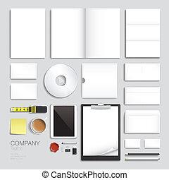 Corporate brand identity vector template design set