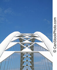 Corporate Bridge - A bridge against blue sky. Great for a...