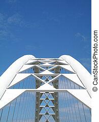 Corporate Bridge - A bridge against blue sky. Great for a...