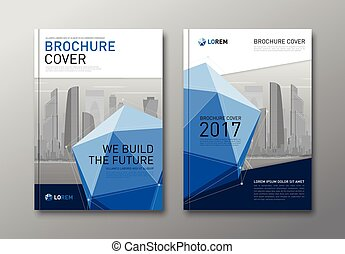 Corporate brochure cover design template. - Corporate...
