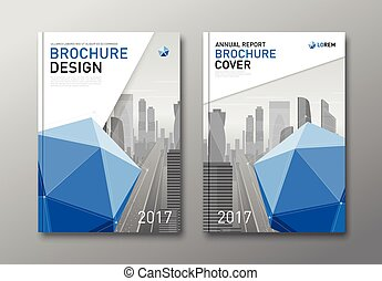 Corporate brochure cover design template.