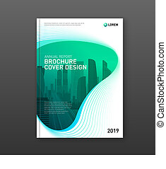 Corporate brochure cover design template