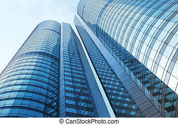 Corporate building from low angle view