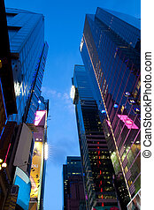 Corporate buildings at Times Square New York - corporate...