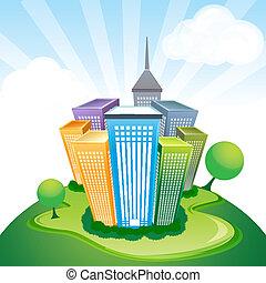 corporate buildings - illustration of corporate buildings