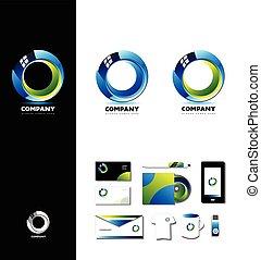 Corporate business 3d circle logo d