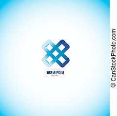 Corporate business abstract flower logo icon