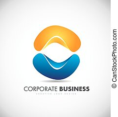 Corporate business abstract logo icon design