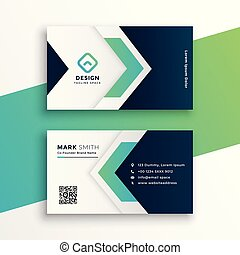 corporate business card layout design template