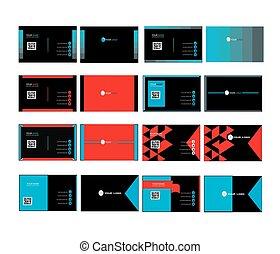 corporate business card set 01