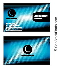 Corporate business cards set