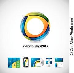Corporate business circle 3d logo